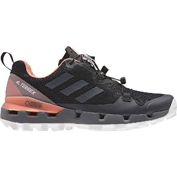 (取寄)アディダス レディース アウトドア テレックス ファスト Gtx サラウンド ハイキングシューズ Adidas Women Outdoor Terrex Fast GTX Surround Hiking Shoe Black/Grey Five/Chalk Coral