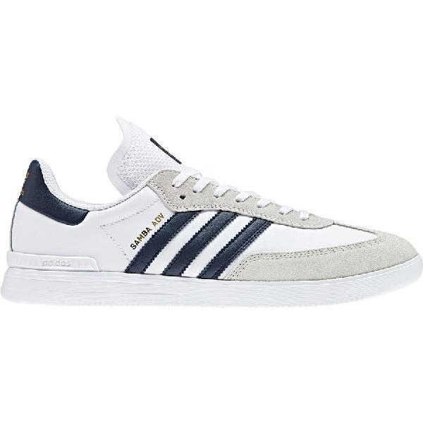 (取寄)アディダス メンズ サンバ Adv シューズ Adidas Men's Samba Adv Shoe Ftwr White/Collegiate Navy/Gold Metallic