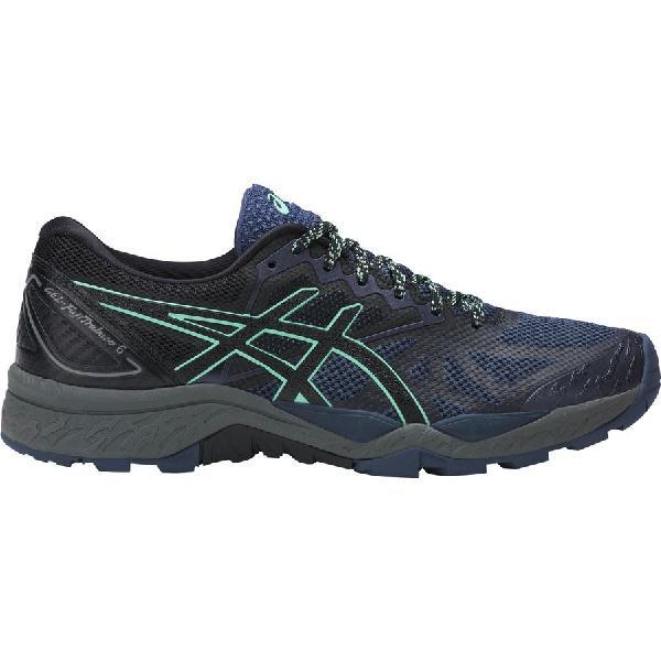 (取寄)アシックス レディース Gel-Fujitrabuco6トレイル ランニングシューズ Asics Women Gel-Fujitrabuco 6 Trail Running Shoe Insignia Blue/Black/Ice Green