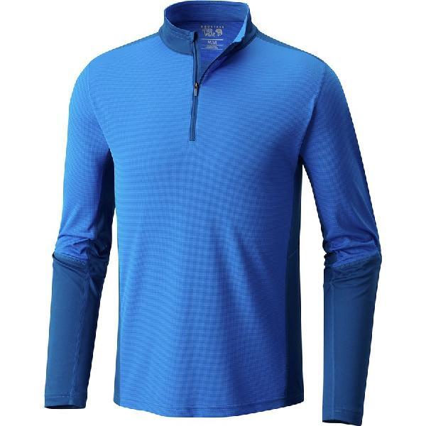 (取寄)マウンテンハードウェア メンズ フォトン ジップ Tシャツ Mountain Hardwear Men's Photon Zip T-Shirt Altitude Blue