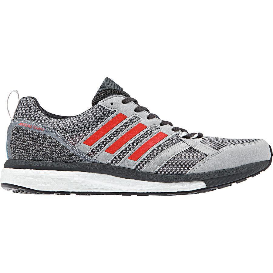 (取寄)アディダス メンズ アディゼロ テンポ 9 ランニングシューズ Adidas Men's Adizero Tempo 9 Running Shoe Grey Two F17/Hi-res Red S18/Carbon S18