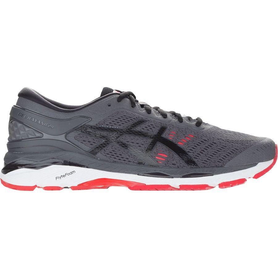 (取寄)アシックス メンズ Gel-Kayano24 ランニングシューズ Asics Men's Gel-Kayano 24 Running Shoe Dark Grey/Black/Fiery Red