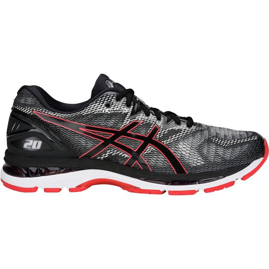 (取寄)アシックス メンズ Gel-Nimbus 20 ランニングシューズ Asics Men's Gel-Nimbus 20 Running Shoe Black/Red Alert