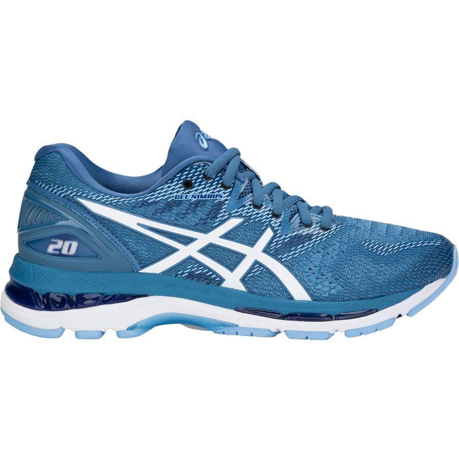 (取寄)アシックス レディース Gel-Nimbus20 ランニングシューズ Asics Women Gel-Nimbus 20 Running Shoe Azure/White