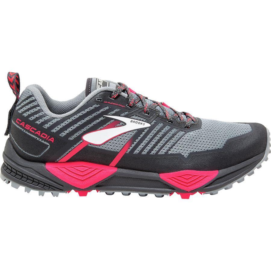 (取寄)ブルックス レディース カスケディア 13トレイル ランニングシューズ Brooks Women Cascadia 13 Trail Running Shoe Grey/Grey/Pink