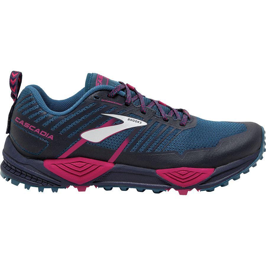 (取寄)ブルックス レディース カスケディア 13トレイル ランニングシューズ Brooks Women Cascadia 13 Trail Running Shoe Ink/Navy/Pink