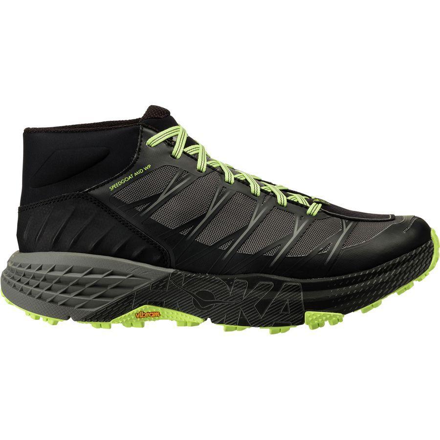 (取寄)ホカ オネオネ メンズ スピードゴート ミッド WP トレイル ラン シューズ Hoka One One Men's Speedgoat Mid WP Trail Run Shoe Black/Steel Gray