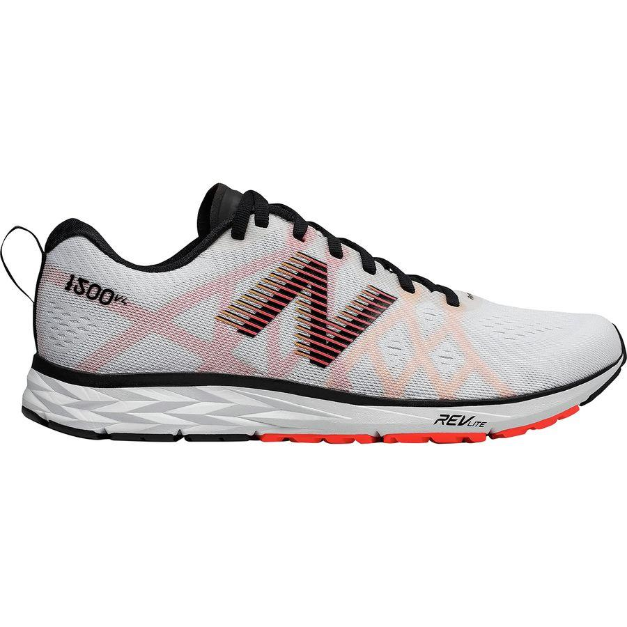 (取寄)ニューバランス メンズ 1500v4 ランニングシューズ New Balance Men's 1500v4 Running Shoe White Munsell/Black/Flame/Impulse