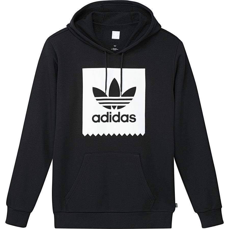 (取寄)アディダス メンズ ソリッド ブラックバード プルオーバー パーカー Adidas Men's Solid Blackbird Hoodie Pullover Black/White