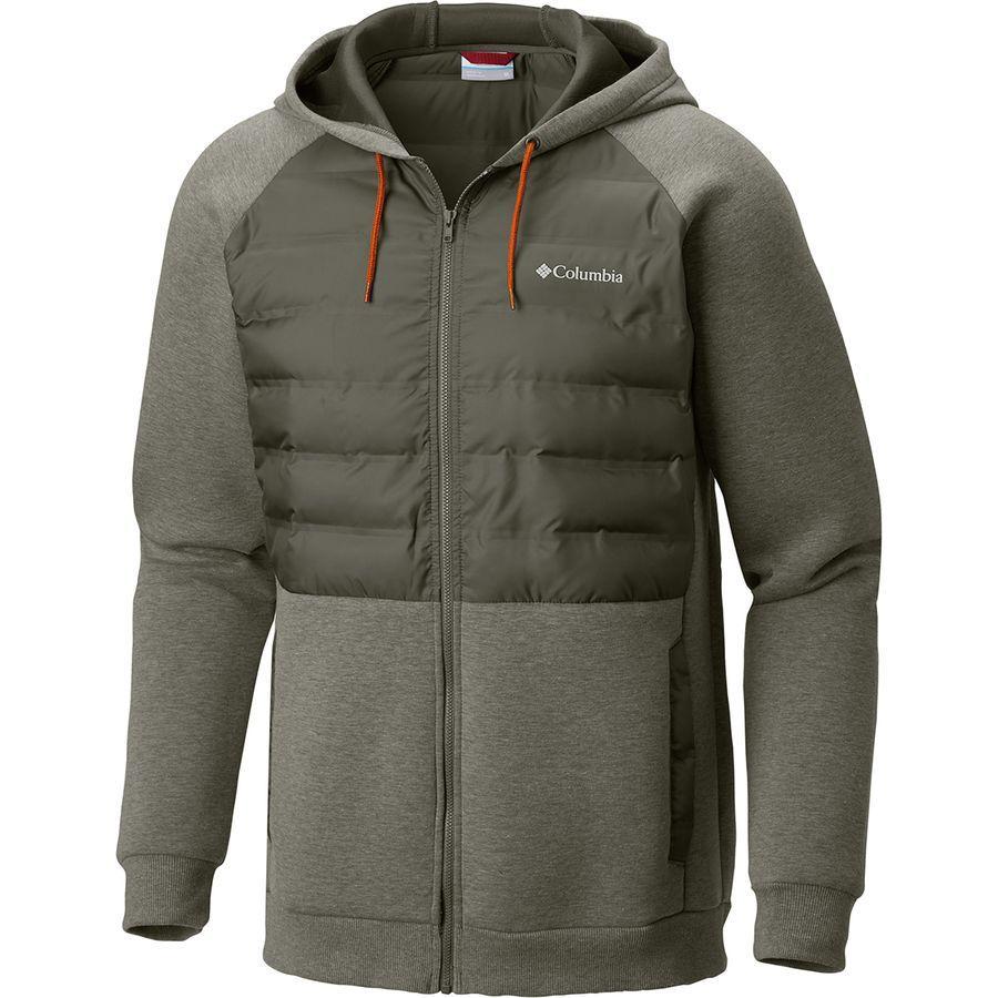 (取寄)コロンビア メンズ ノーザン コンフォート 2 フルジップ パーカー Columbia Men's Northern Comfort II Full-Zip Hoodie Peatmoss/Backcountry Orange