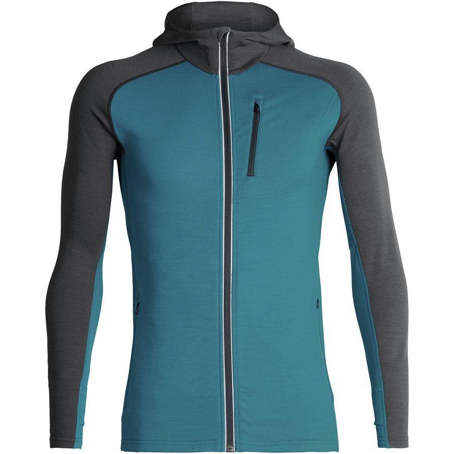 (取寄)アイスブレーカー メンズ クァンタム フーデッド フルジップ シャツ Icebreaker Men's Quantum Hooded Full-Zip Shirt Alpine/Monsoon