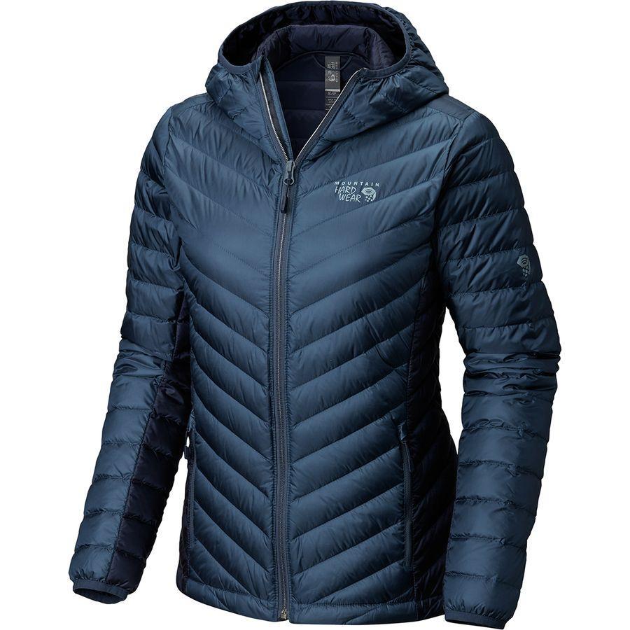 (取寄)マウンテンハードウェア レディース マイクロ ラティオ フーデッド ダウン ジャケット Mountain Hardwear Women Micro Ratio Hooded Down Jacket Zinc