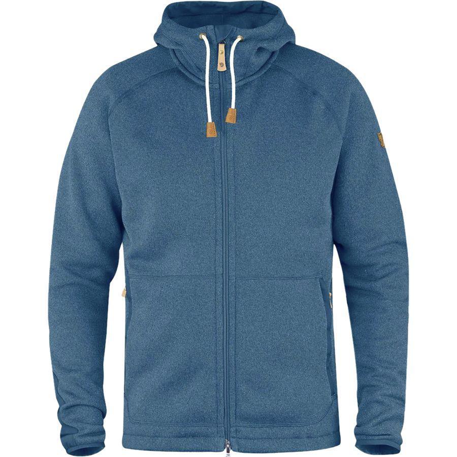 (取寄) フェールラーベン メンズ Ovik フリース フーデッド ジャケット Fjallraven Men's Ovik Fleece Hooded Jacket Blue Ridge