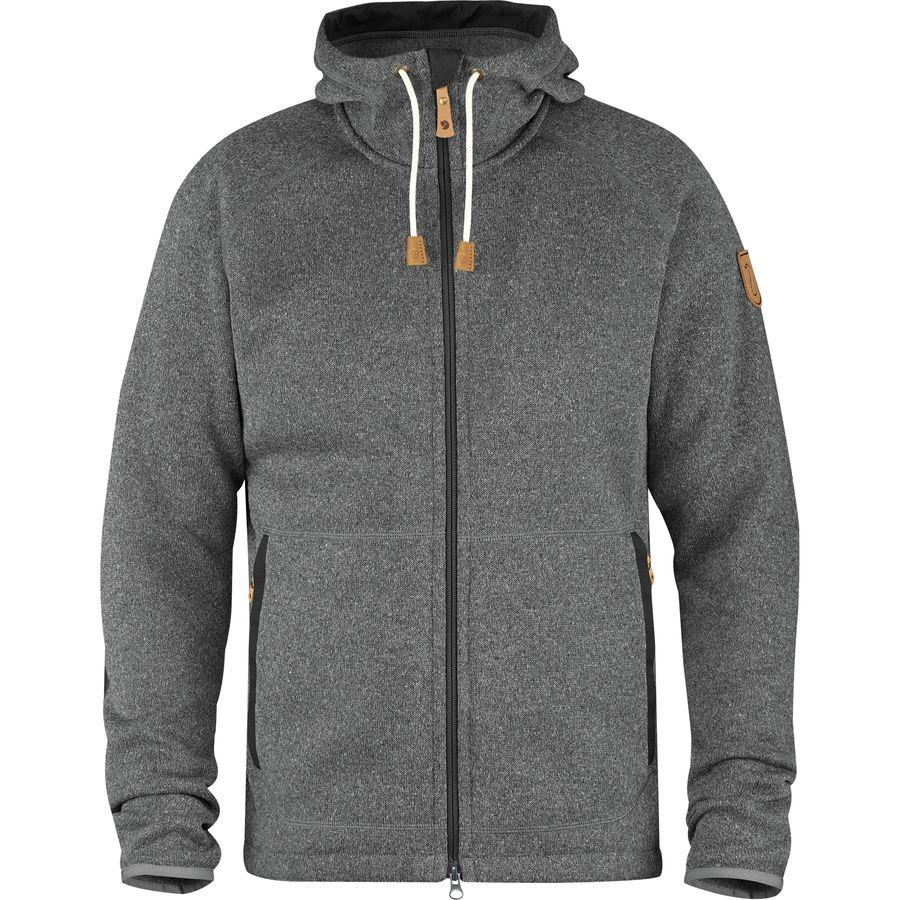 (取寄) フェールラーベン メンズ Ovik フリース フーデッド ジャケット Fjallraven Men's Ovik Fleece Hooded Jacket Dark Grey
