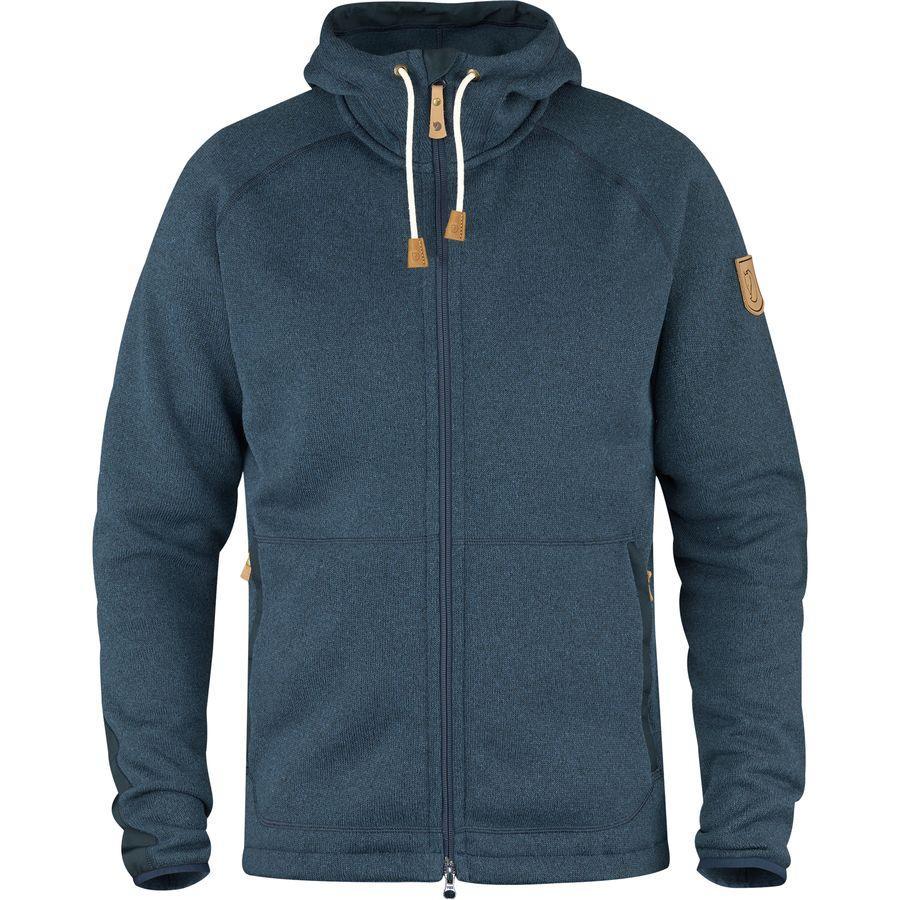 (取寄) フェールラーベン メンズ Ovik フリース フーデッド ジャケット Fjallraven Men's Ovik Fleece Hooded Jacket Navy