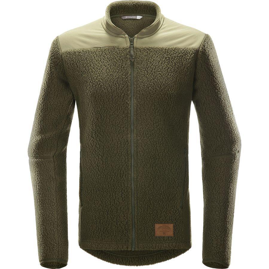 (取寄)ホグロフス メンズ パイル フリース ジャケット Haglofs Men's Pile Fleece Jacket Deep Woods/Sage Green