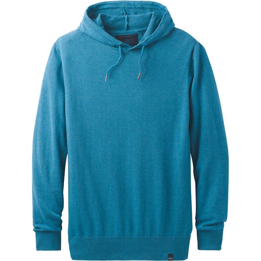 (取寄)プラナ メンズ スロウ オン フーデッド セーター Prana Men's Throw On Hooded Sweater River Rock Blue
