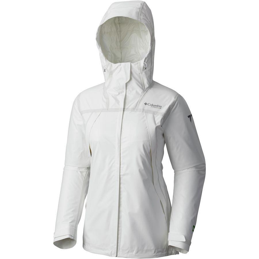 (取寄)コロンビア レディース Titanium アウトドライ Ex エコ フーデッド インサレーテッド ジャケット Columbia Women Titanium Outdry EX Eco Hooded Insulated Jacket White Undyed