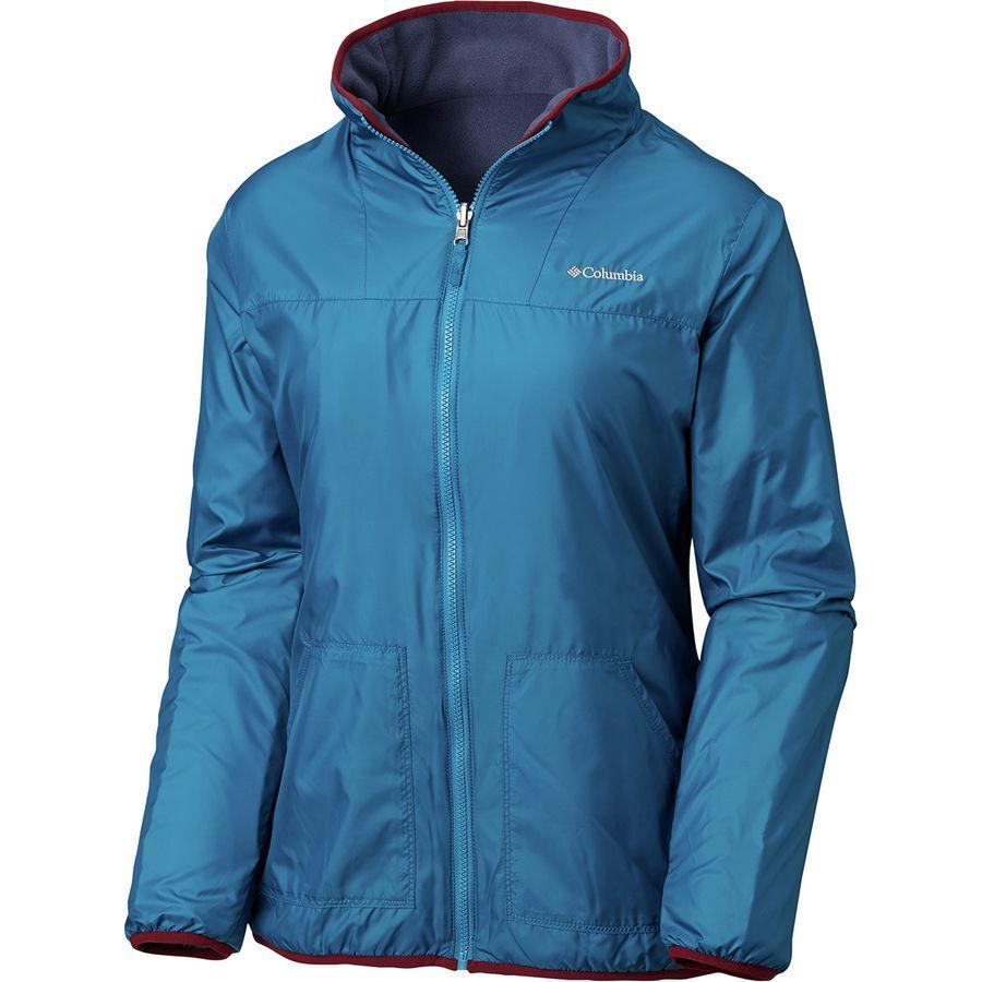 (取寄)コロンビア レディース マウンテン サイド リバーシブル フリース ジャケット Columbia Women Mountain Side Reversible Fleece Jacket Lagoon