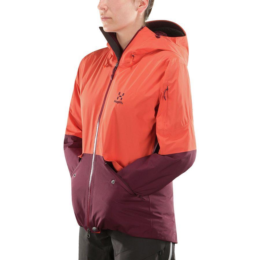 (取寄)ホグロフス レディース キオーネ インサレーテッド ジャケット Haglofs Women Khione Insulated Jacket Dusty Rust/Aubergine