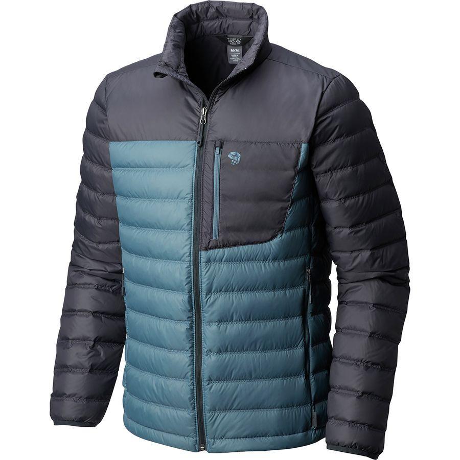 (取寄)マウンテンハードウェア メンズ ダイノサーム ダウン ジャケット Mountain Hardwear Men's Dynotherm Down Jacket Machine Blue