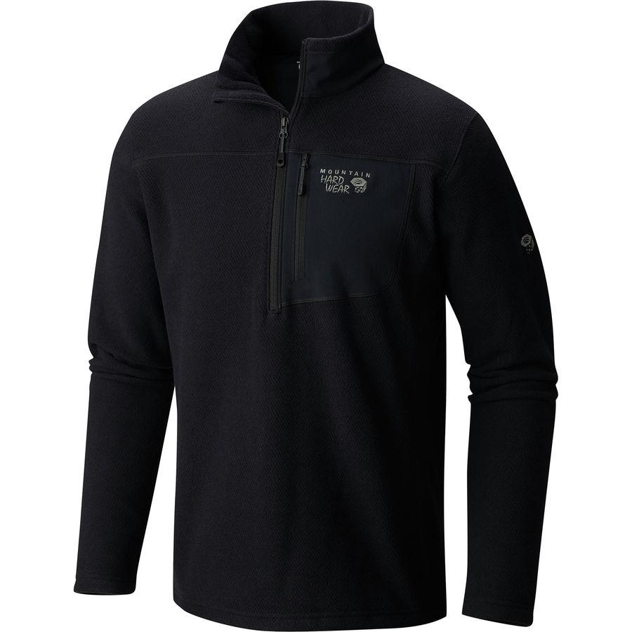 (取寄)マウンテンハードウェア メンズ トースティー ツイル 1/2-Zip プルオーバー ジャケット Mountain Hardwear Men's Toasty Twill 1/2-Zip Pullover Jacket Black