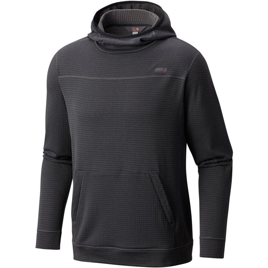 (取寄)マウンテンハードウェア メンズ ファルコン フーデッド フリース プルオーバー Mountain Hardwear Men's Falcon Hooded Fleece Pullover Black