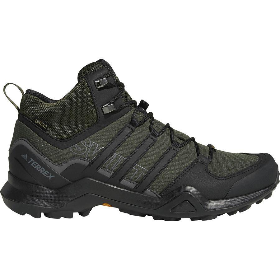 (取寄)アディダス メンズ アウトドア テレックス スウィフト R2 ミッド Gtx ハイキングシューズ Adidas Men's Outdoor Terrex Swift R2 Mid GTX Hiking Shoe Night Cargo/Black/Base Green