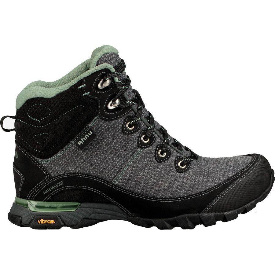(取寄)アニュ レディース シュガーパイン 2 WP ハイキング ブーツ Ahnu Women Sugarpine II WP Hiking Boot Black/Green Bay