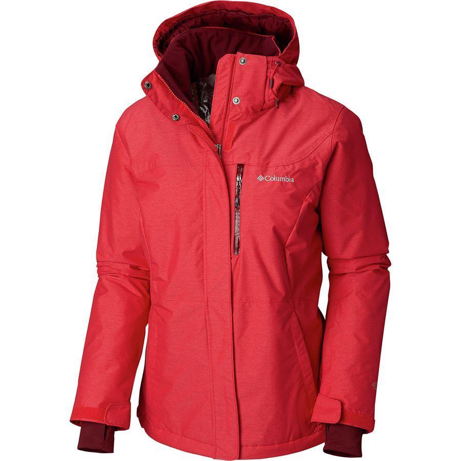 (取寄)コロンビア レディース アルパイン アクション オムニヒート フーデッド ジャケット Columbia Women Alpine Action Omni-Heat Hooded Jacket Red Mercury