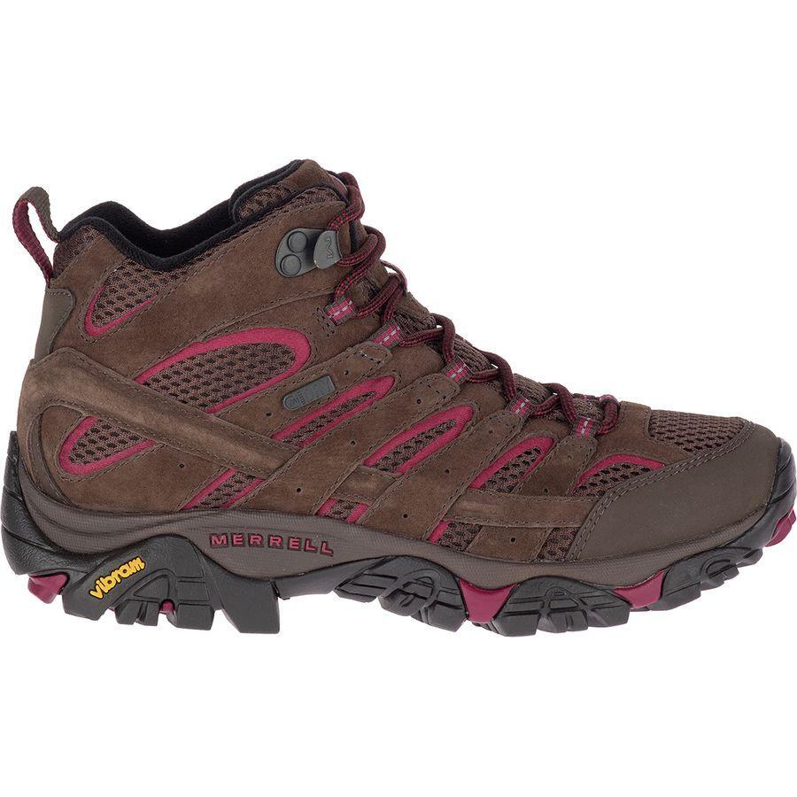(取寄)メレル レディース モアブ 2 ミッド ハイキング ブーツ Merrell Women Moab 2 Mid Hiking Boot Espresso