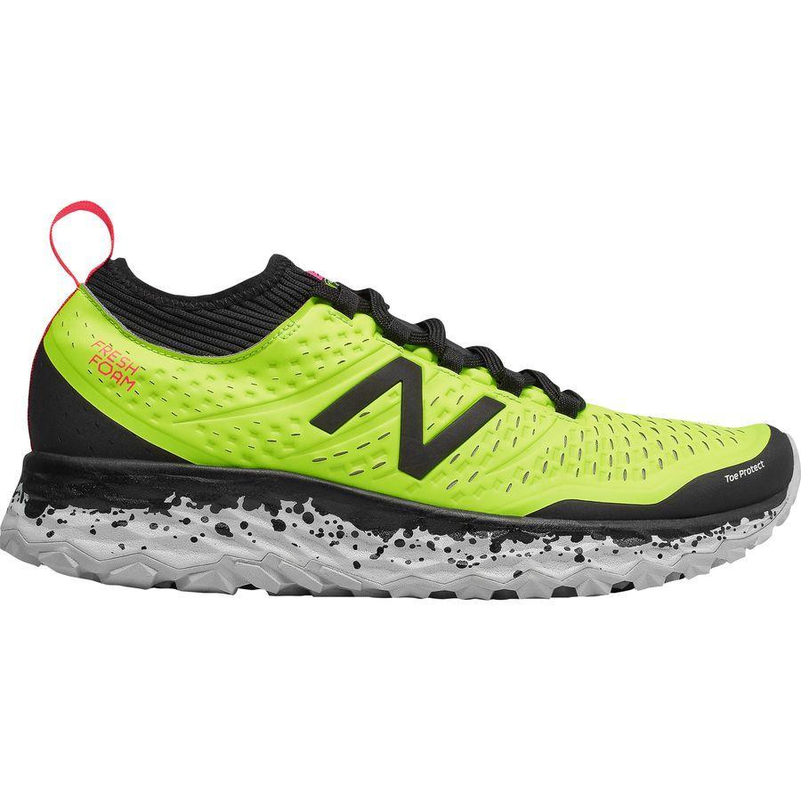 (取寄)ニューバランス メンズ フレッシュ フォーム イエロ v3トレイル ランニングシューズ New Balance Men's Fresh Foam Hierro v3 Trail Running Shoe Hi-lite/Black/Bright Cherry