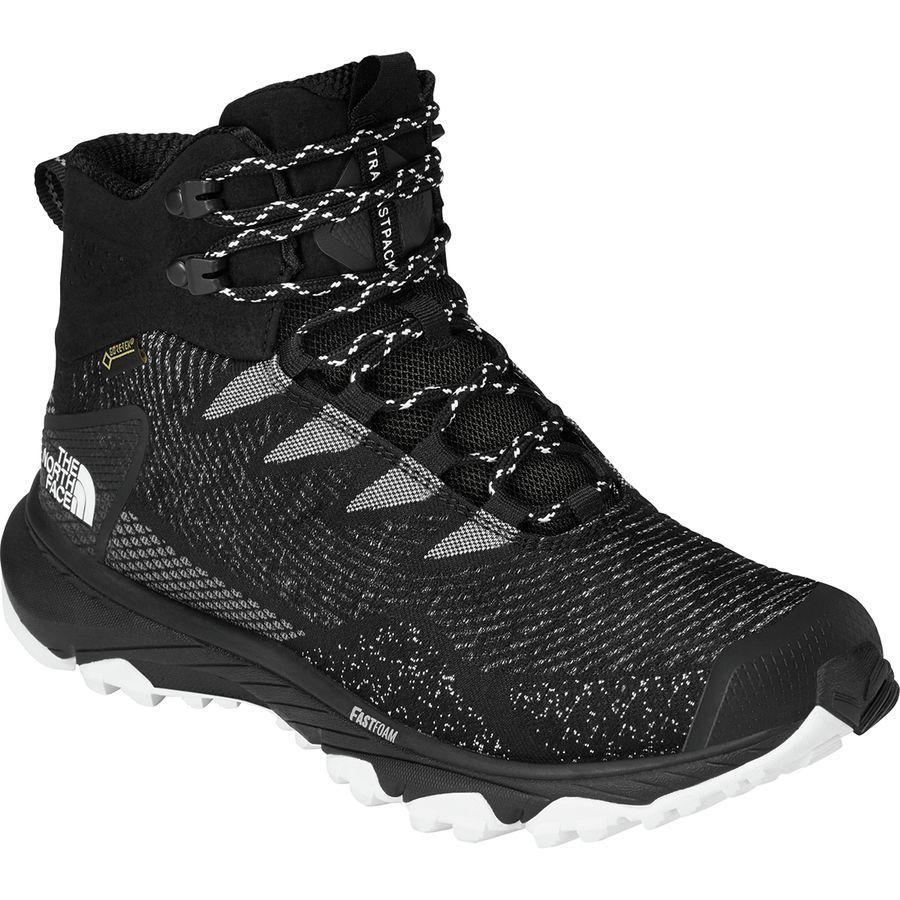 (取寄)ノースフェイス レディース ウルトラ ファストパック 3 ミッド Gtx ウーヴン ハイキング ブーツ The North Face Women Ultra Fastpack III Mid GTX Woven Hiking Boot Tnf Black/Tnf White
