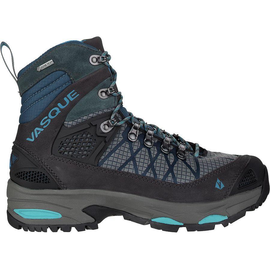(取寄)バスク レディース サガ Gtx バックパッキング ブーツ Vasque Women Saga GTX Backpacking Boot Dark Slate/Majolica Blue