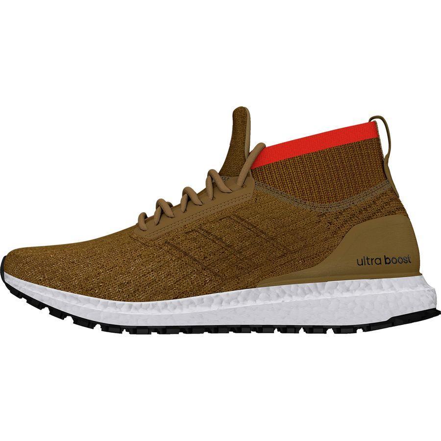 (order) Adidas men ultra boost oar terrane running shoes Adidas Men's UltraBoost All Terrain Running Shoe Raw DesertBlackWhite