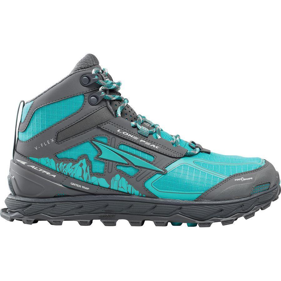 (取寄)アルトラ レディース ローン ピーク 4.0ミッド メッシュ トレイル ランニングシューズ Altra Women Lone Peak 4.0 Mid Mesh Trail Running Shoe Teal/Gray