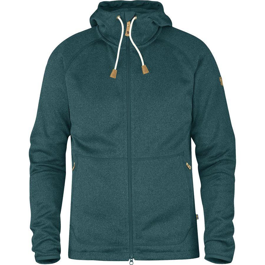 (取寄) フェールラーベン メンズ Ovik フリース フーデッド ジャケット Fjallraven Men's Ovik Fleece Hooded Jacket Glacier Green