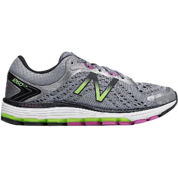 (取寄)ニューバランス レディース スニーカー グレー 1260v7 ランニングシューズ New Balance Women 1260v7 Running Shoe Steel/Poisonberry