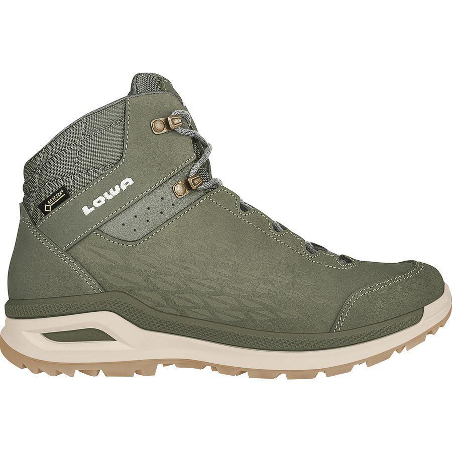 (取寄)ローバー レディース ロカルノ Gtx QC ハイキング ブーツ Lowa Women Locarno GTX QC Hiking Boot Reed/Off White