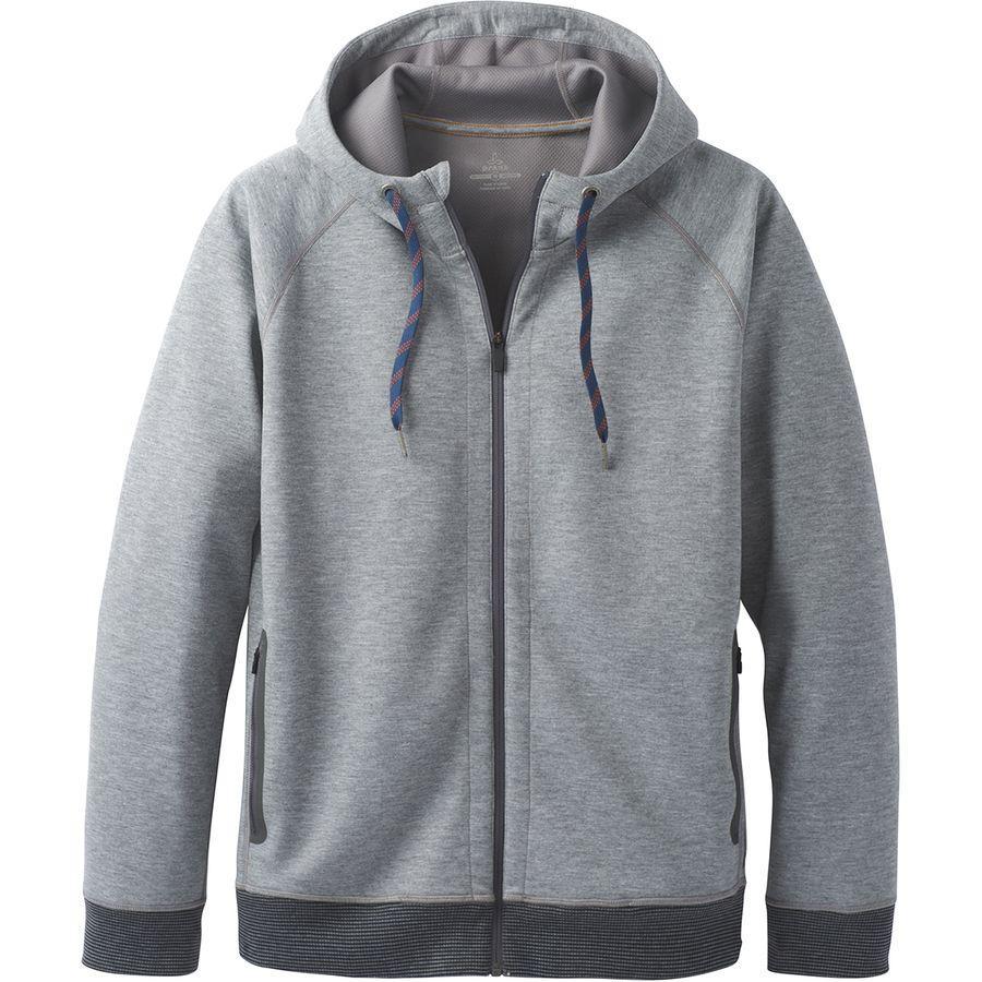 (取寄)プラナ メンズ ハルグレン テック フリース フルジップ パーカー Prana Men's Halgren Tech Fleece Full-Zip Hoodie Gravel Heather