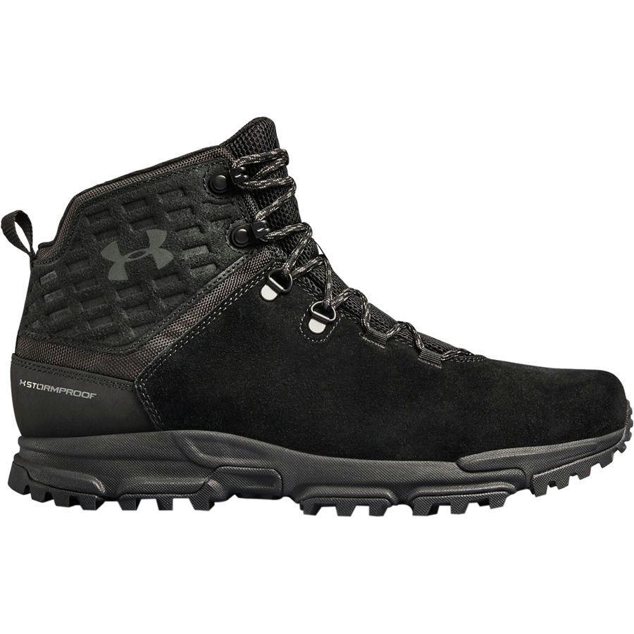(取寄)アンダーアーマー メンズ ブロワー ミッド WP ハイキング ブーツ Under Armour Men's Brower Mid WP Hiking Boot Black/Black/Charcoal