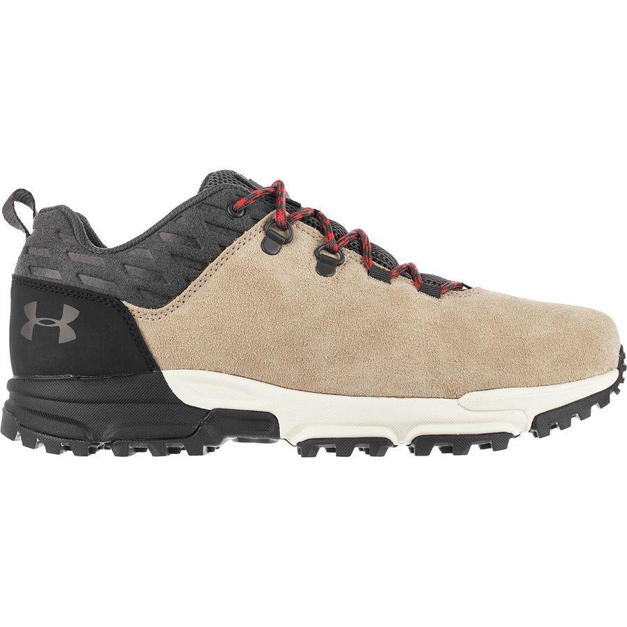 (取寄)アンダーアーマー メンズ ブロワー ミッド WP ハイキング ブーツ Under Armour Men's Brower Mid WP Hiking Boot City Khaki/Stone/Radio Red