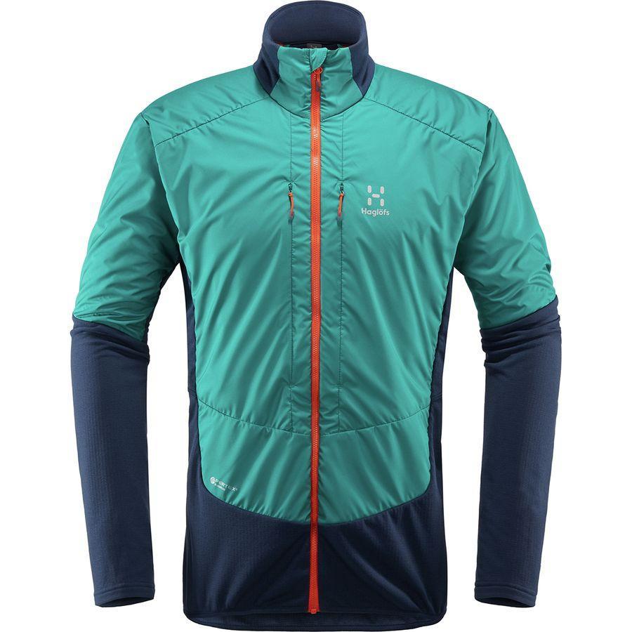 (取寄)ホグロフス メンズ ツーリング ハイブリッド ジャケット Haglofs Men's Touring Hybrid Jacket Tarn Blue/Alpine Green