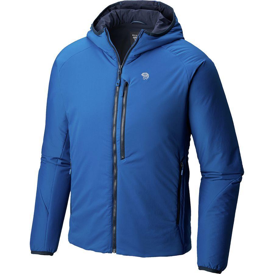 (取寄)マウンテンハードウェア メンズ Korストラタ フーデッド ジャケット Mountain Hardwear Men's Kor Strata Hooded Jacket Nightfall Blue