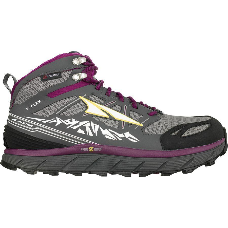(取寄)アルトラ レディース ローン ピーク 3.0ミッド ネオシェル トレイル ランニングシューズ Altra Women Lone Peak 3.0 Mid Neoshell Trail Running Shoe Gray/Purple