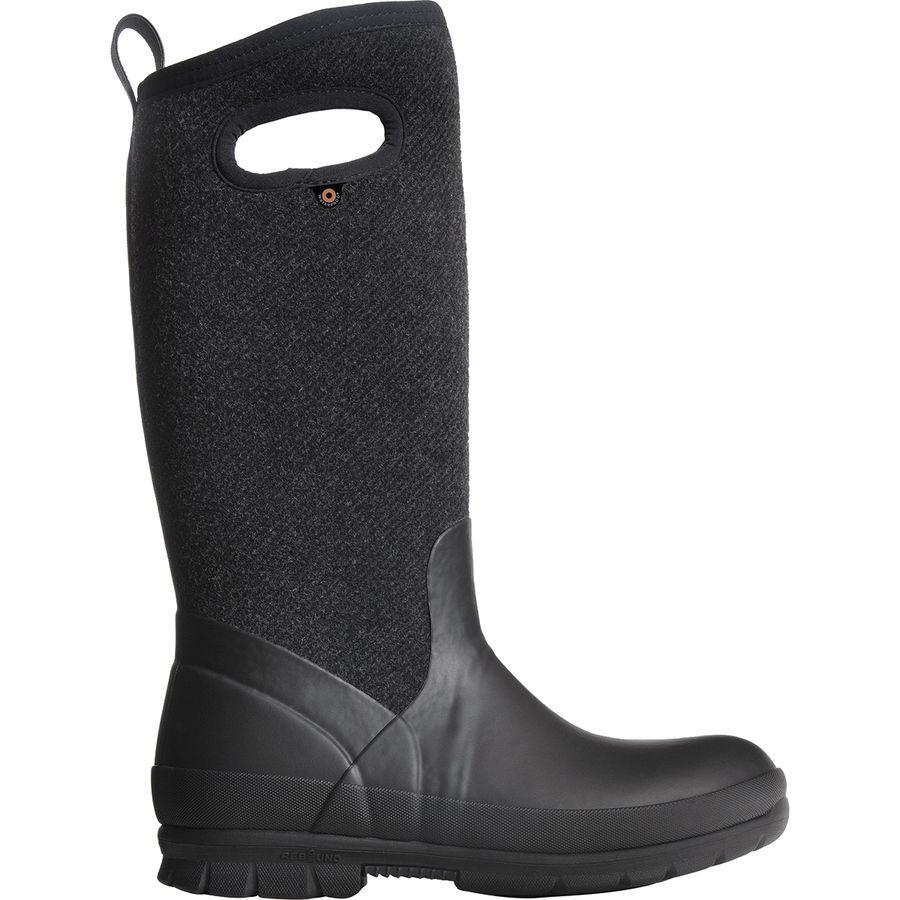 (取寄)ボグス レディース クランドル トール ウール ブーツ Bogs Women Crandall Tall Wool Boot Black