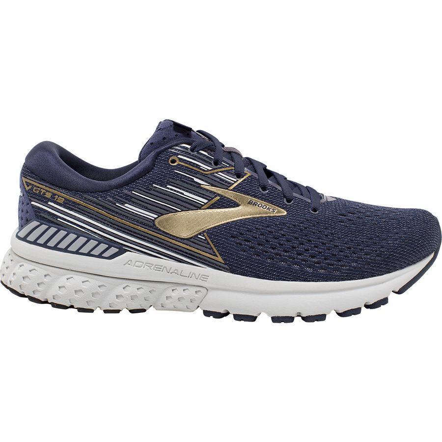 (取寄)ブルックス メンズ アドレナリン GTS 19 ランニングシューズ Brooks Men's Adrenaline GTS 19 Running Shoe Navy/Gold/Grey