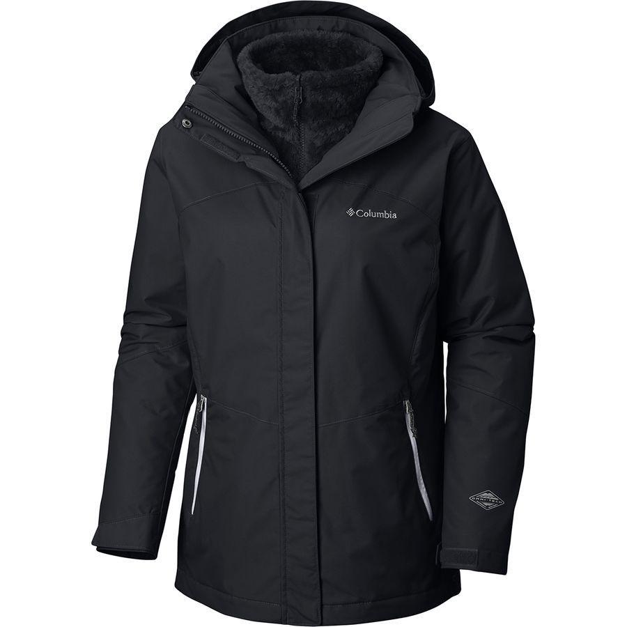 (取寄)コロンビア レディース バガブー 2 インターチェンジ フーデッド ジャケット Columbia Women Bugaboo II Interchange Hooded Jacket Black
