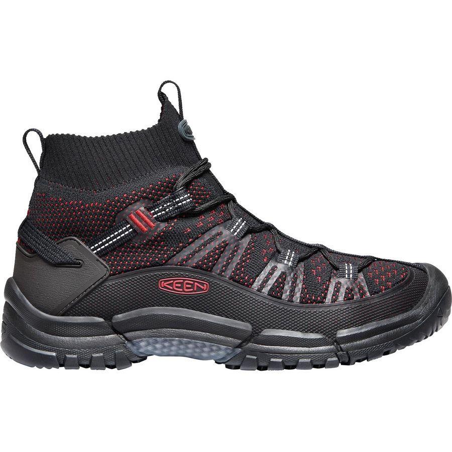 (取寄)キーン メンズ ターギー エボ ミッド ハイキング ブーツ KEEN Men's Targhee Evo Mid Hiking Boot Black/Tango Red