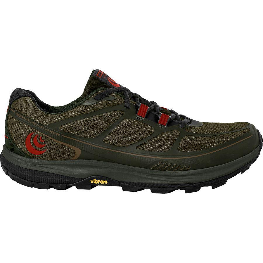 (取寄)トポアスレチック メンズ Terraventure 2 トレイル ランニングシューズ Topo Athletic Men's Terraventure 2 Trail Running Shoe Olive/Red